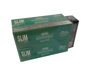 Filter Cigarette Tubes KORONA Menthol Slim 500 PCS + GRATIS Cigarette Tube Machine.